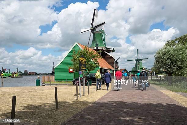 People walking at the Zaanse Schans