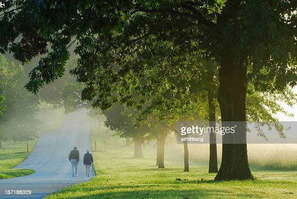 people walking at valley forge national park - pennsylvania stock pictures, royalty-free photos & images