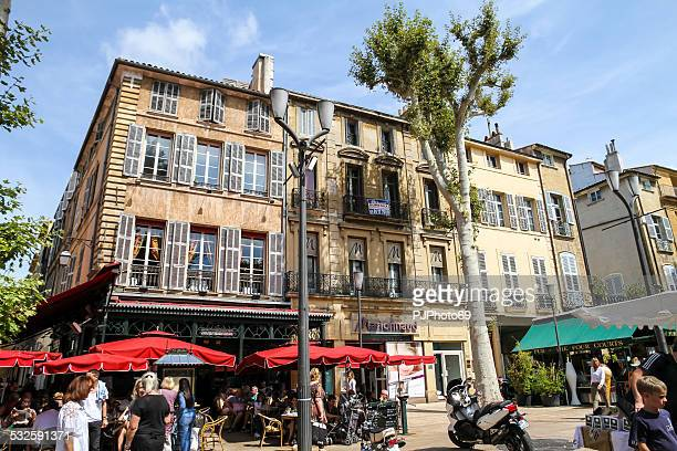 people walking in aix en provence - pjphoto69 stock pictures, royalty-free photos & images