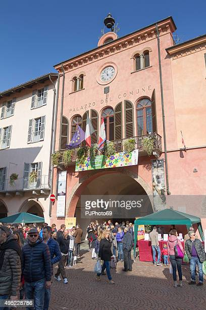 People walking in Alba (Italy) during Truffle Fair