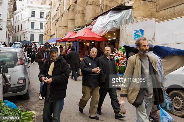 People walking in Algiers near Djemaa Ketchoua mosque