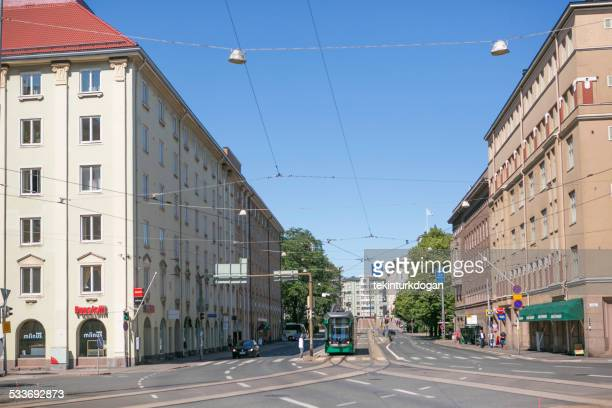 People walking in front of old buildings at helsinki finland