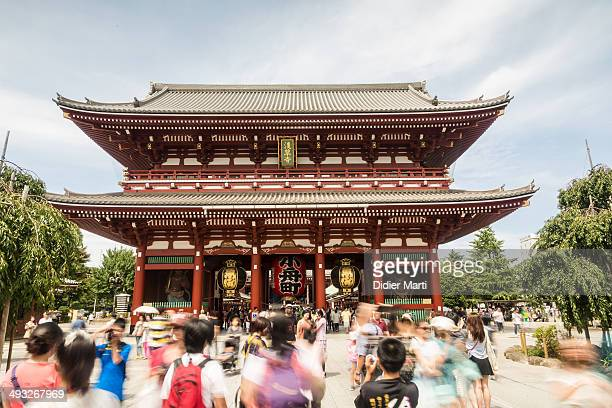 CONTENT] People walking in front the Sensoji a famous buddhist temple in Tokyo historic area