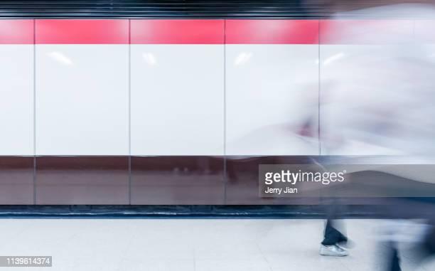 People walking in Hong Kong subway