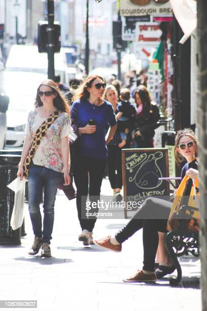People walking in Portobello Road