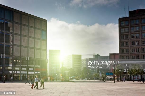 People walking in square, Berlin, Germany