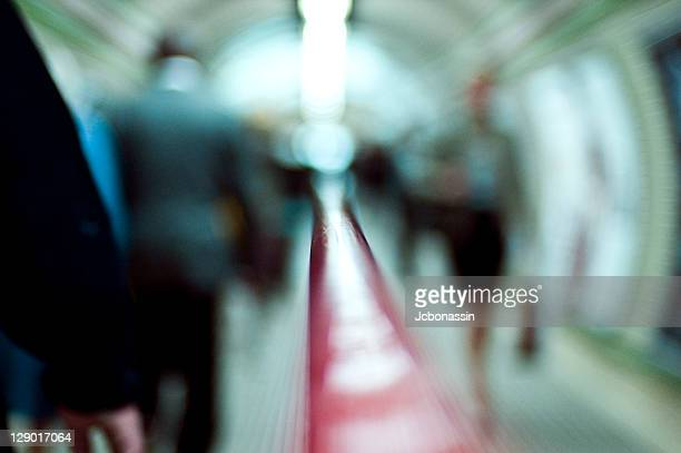 people walking in subway - jcbonassin stock pictures, royalty-free photos & images