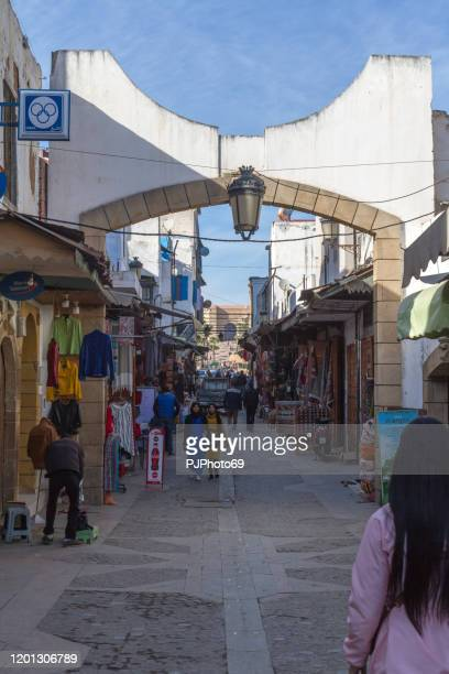 people walking in the souk of rabat's medina - morocco - pjphoto69 foto e immagini stock