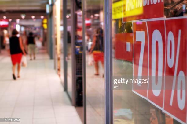 People walking inside a shopping mall