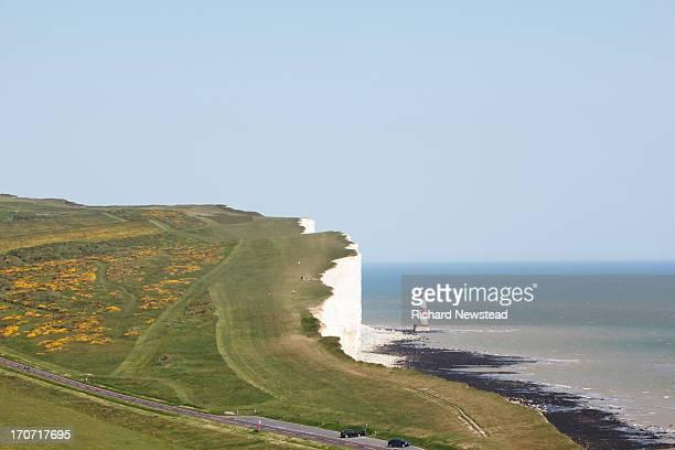 People Walking on Beachy Head