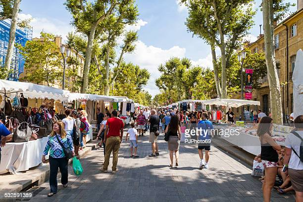 People walking on Cours Mirabeau