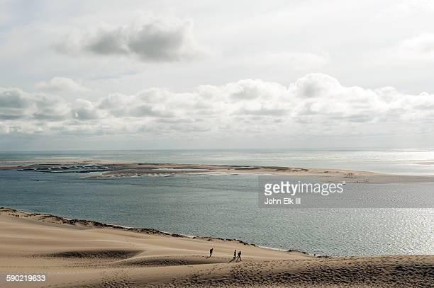People walking on Dune de Pyla Pilat dune