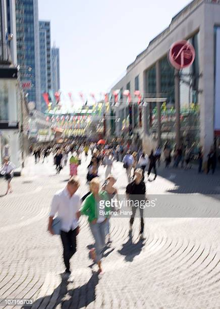 People walking on street (blurred motion)