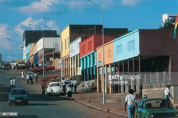 People walking on the street in a town, Kigali, Rwanda