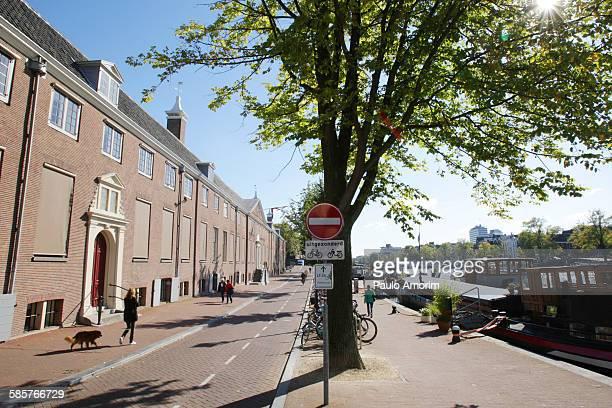 People walking on the street in Amsterdam