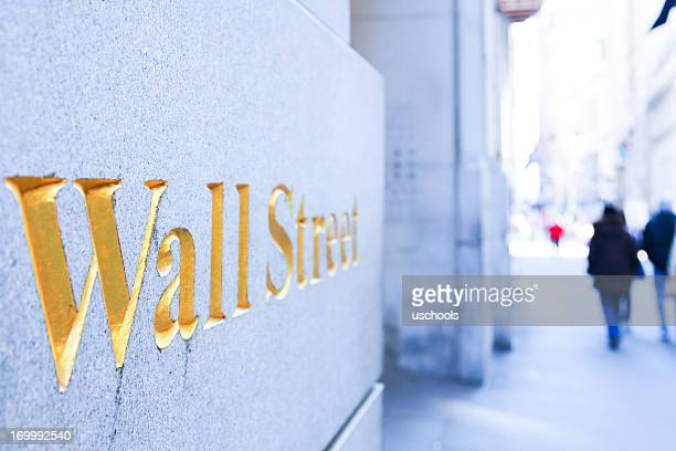 people walking on the wall street - wall street lower manhattan stock pictures, royalty-free photos & images