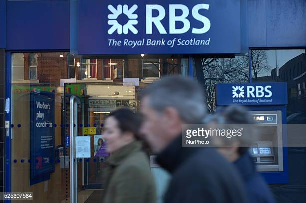 People walking past a branch of the Royal Bank of Scotland in Manchester on Wednesday 12th November 2014 The Royal Bank of Scotland trades as an...