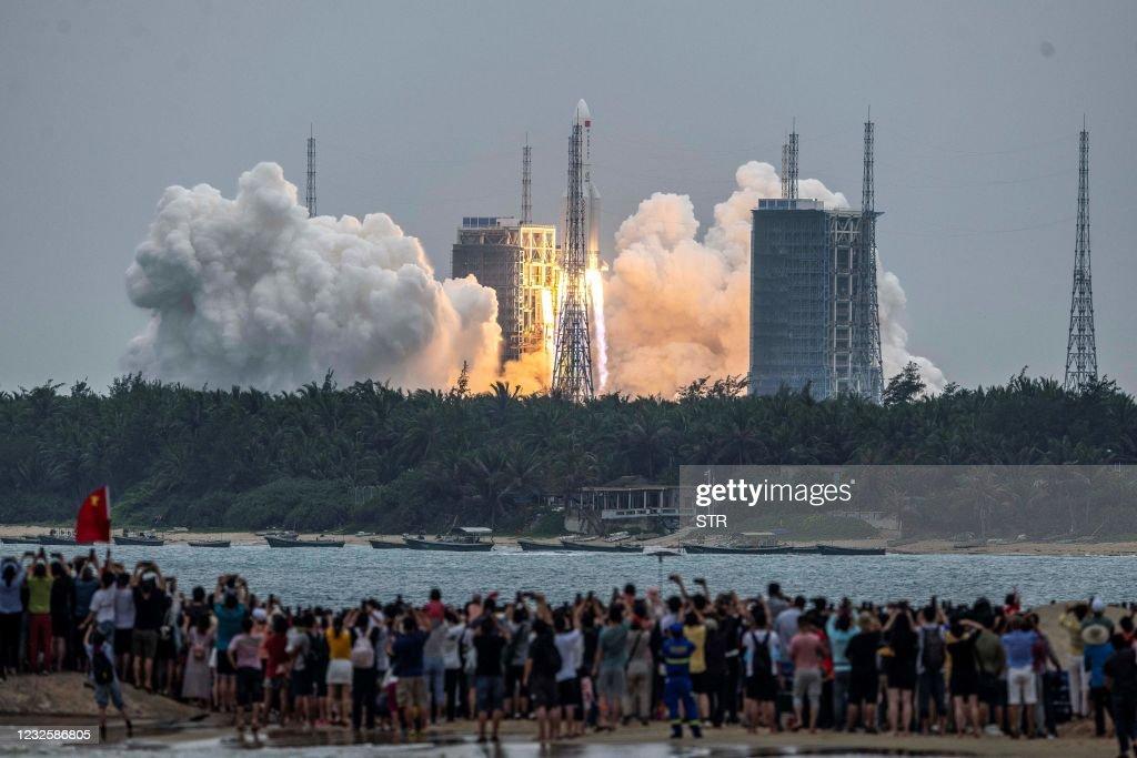TOPSHOT-CHINA-SPACE-SCIENCE : News Photo