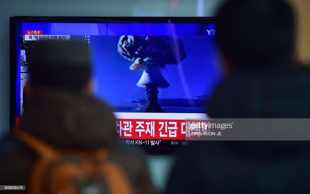 TOPSHOT-ADDITION-SKOREA-NKOREA-MILITARY-NUCLEAR : News Photo