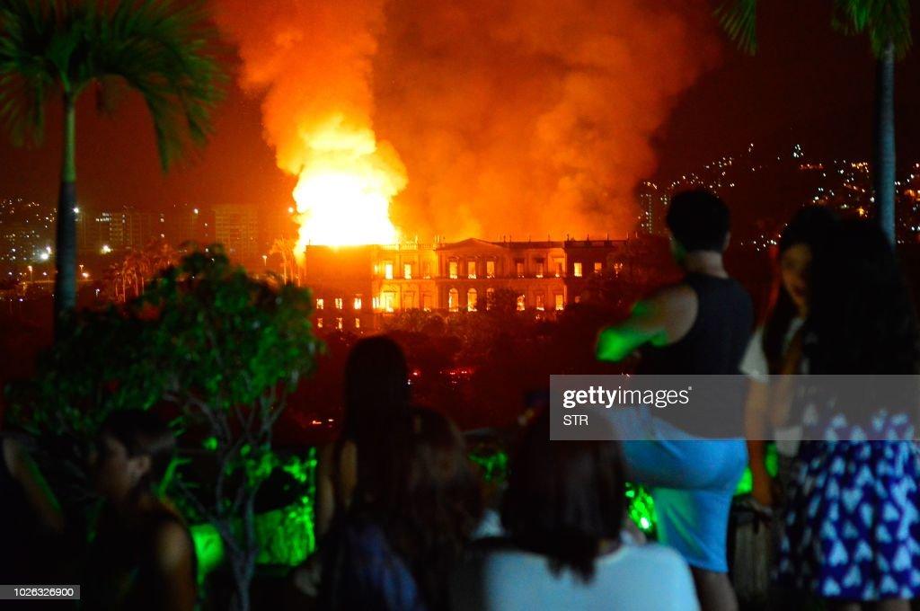 BRAZIL-FIRE-MUSEUM : News Photo