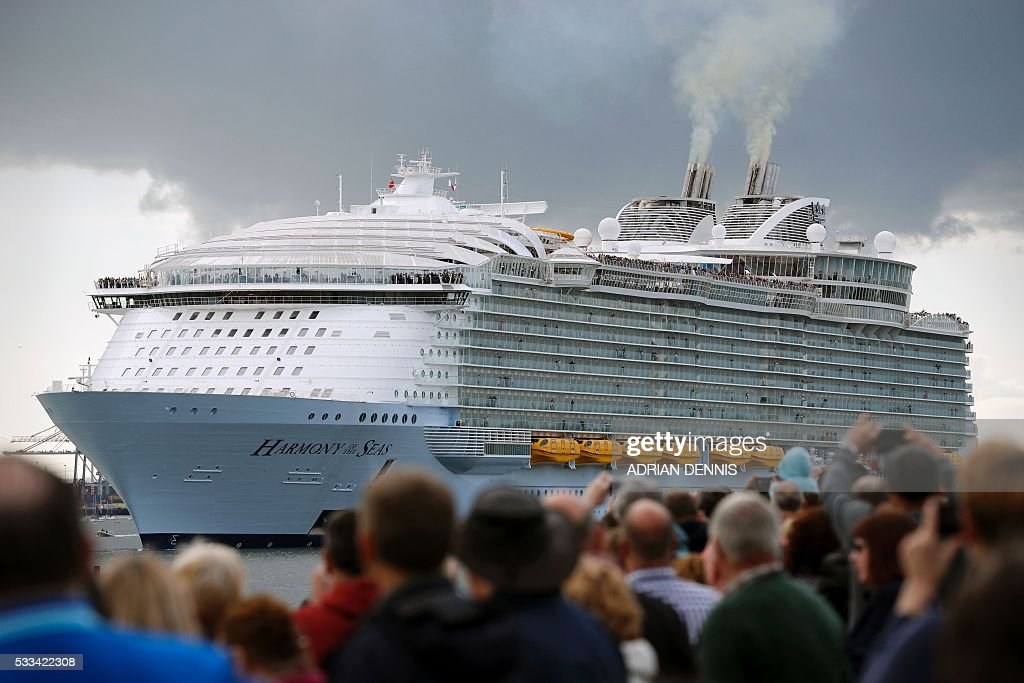 Worlds Largest Cruise Ship Harmony Of The Seas Sets Sail From - Harmony cruise