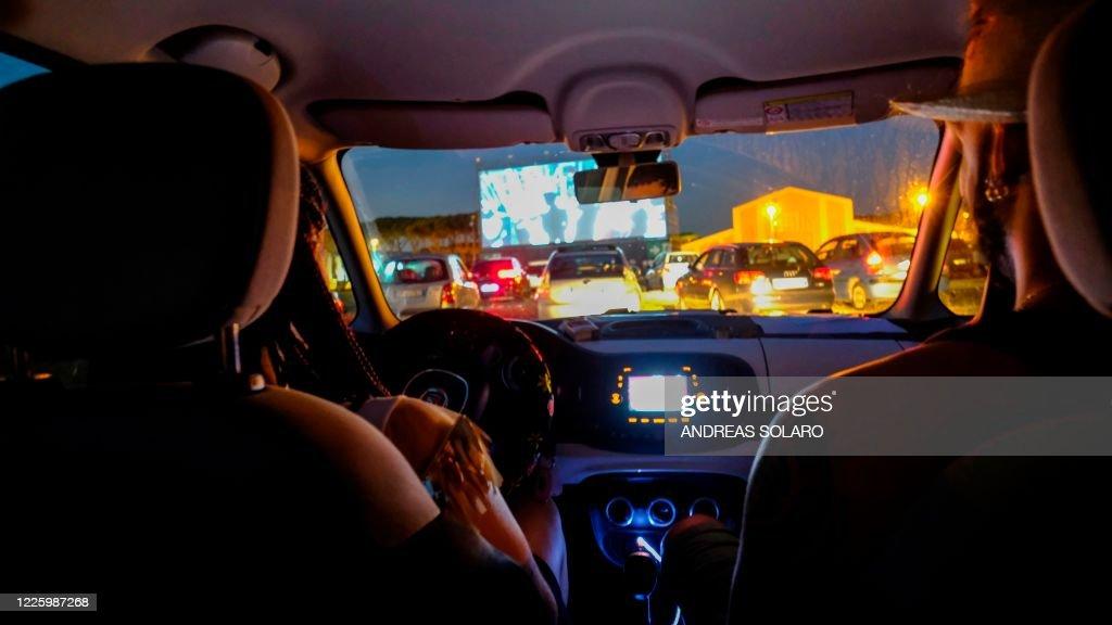 ITALY-HEALTH-VIRUS-CINEMA-DRIVE IN : News Photo