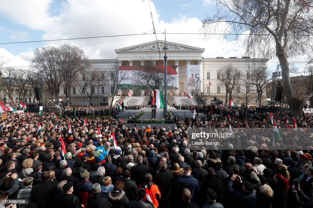 Hungarian PM Orban Makes National Day Address : News Photo