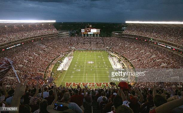 People watch the Georgia Bulldogs take on the Alabama Crimson Tide at BryantDenny Stadium September 22 2007 in Tuscaloosa Alabama