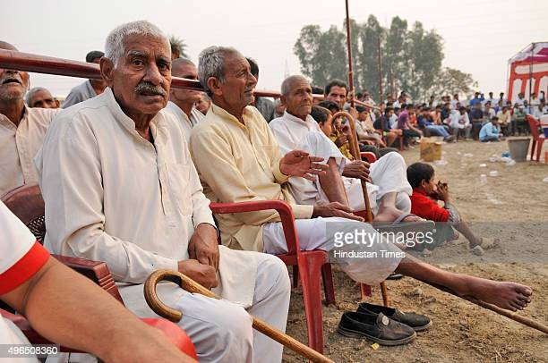 People watching a match during Sadbhawana Kabaddi tournament held at Bisada on November 10 2015 in Dadri India The Sadbhawana Kabaddi tournament...