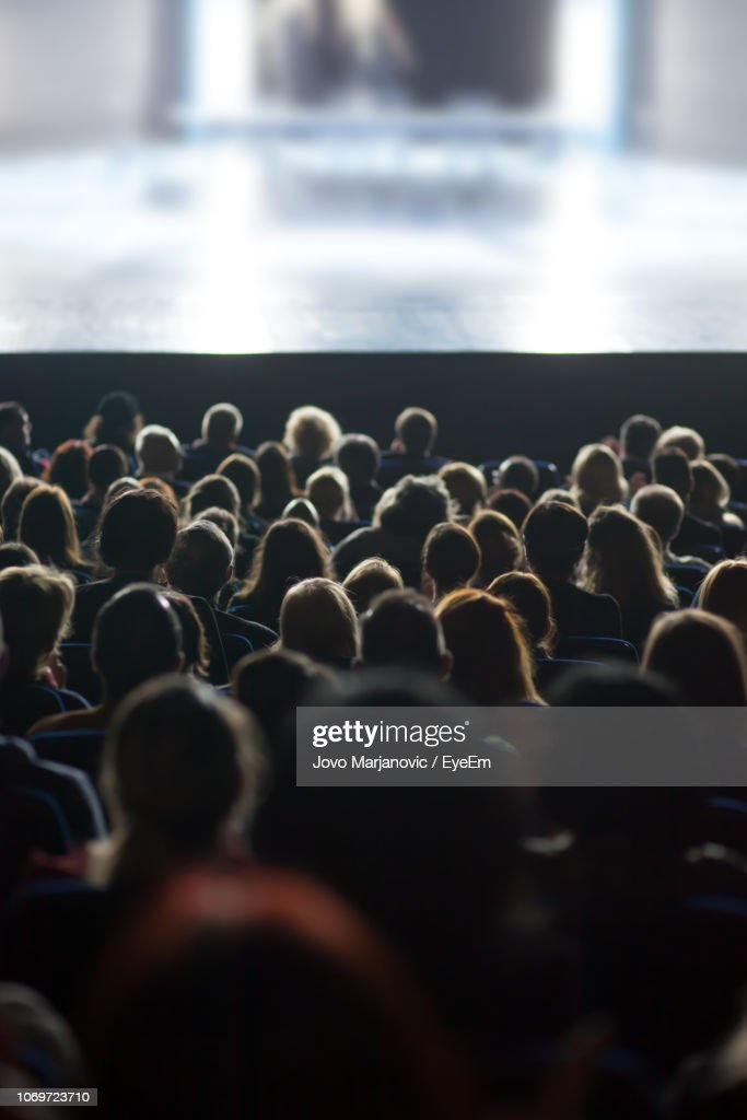 People Watching Movie In Theatre : Foto de stock