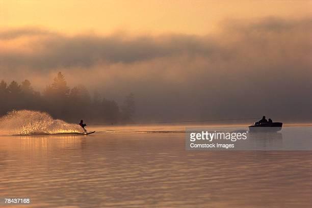 People water skiing