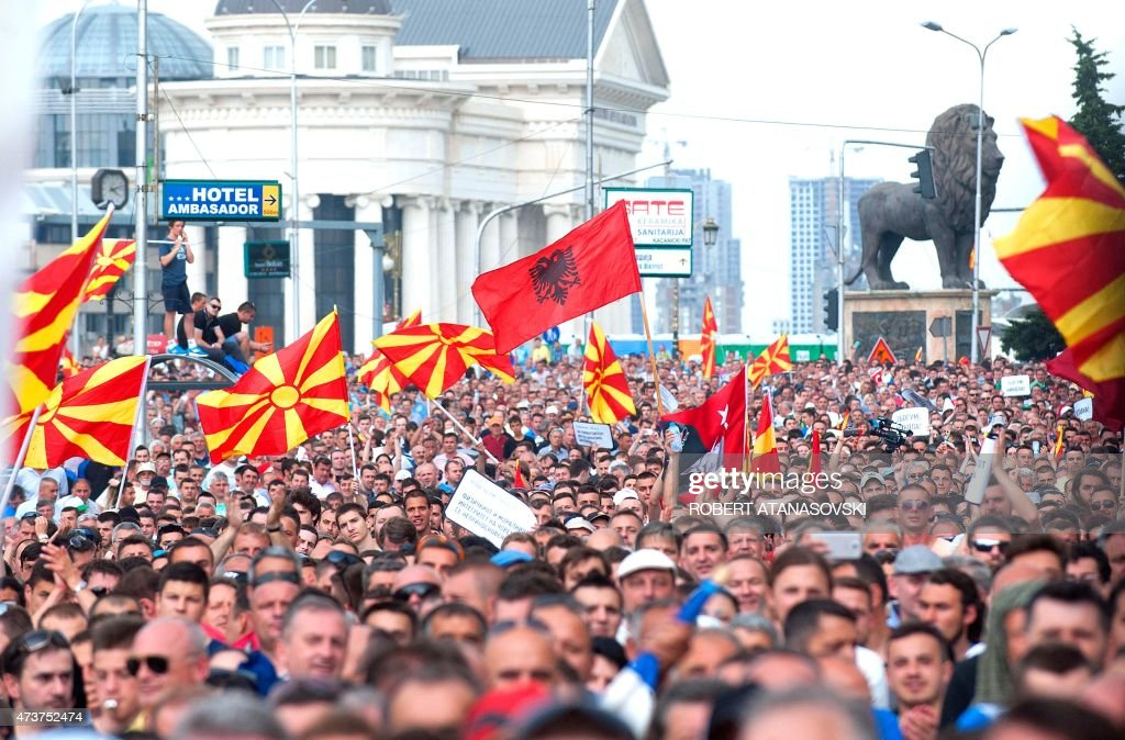 MACEDONIA-POLITICS-DEMO : News Photo
