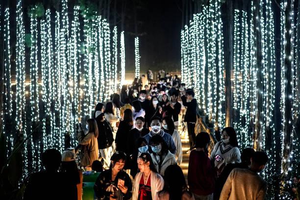 CHN: People Celebrate Halloween In Wuhan After Outbreak Of Coronavirus