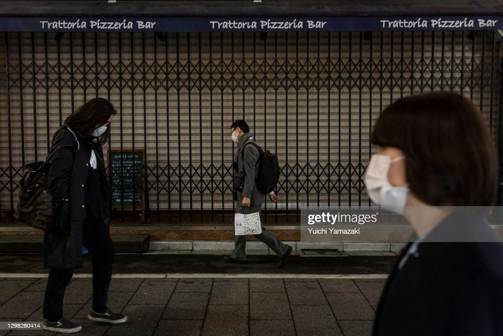 Coronavirus Cases Fluctuate As Tokyo Enters Second Half Of State Of Emergency : ニュース写真