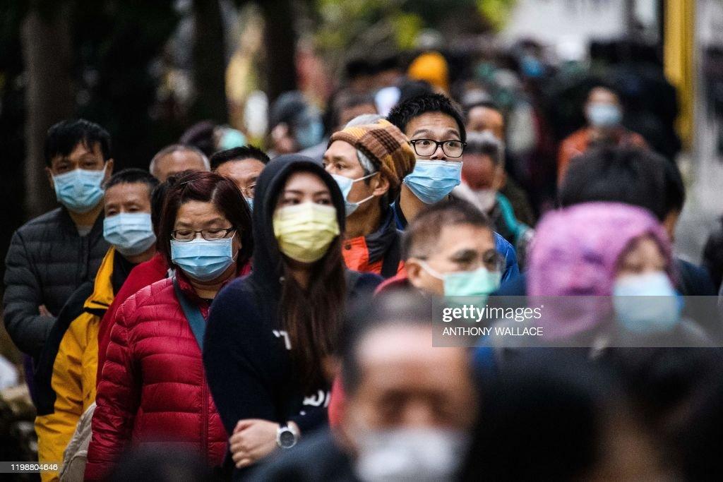 TOPSHOT-HONG KONG-CHINA-HEALTH-VIRUS : News Photo