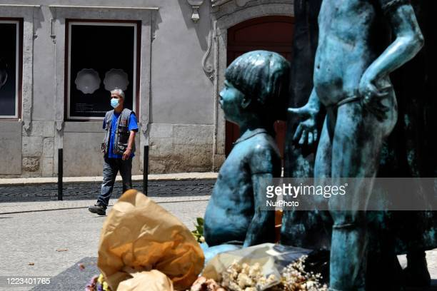 People wearing protective masks carry out daily activities in the city of Lisbon 28 June 2020 According to the data revealed this Saturday June 27th...