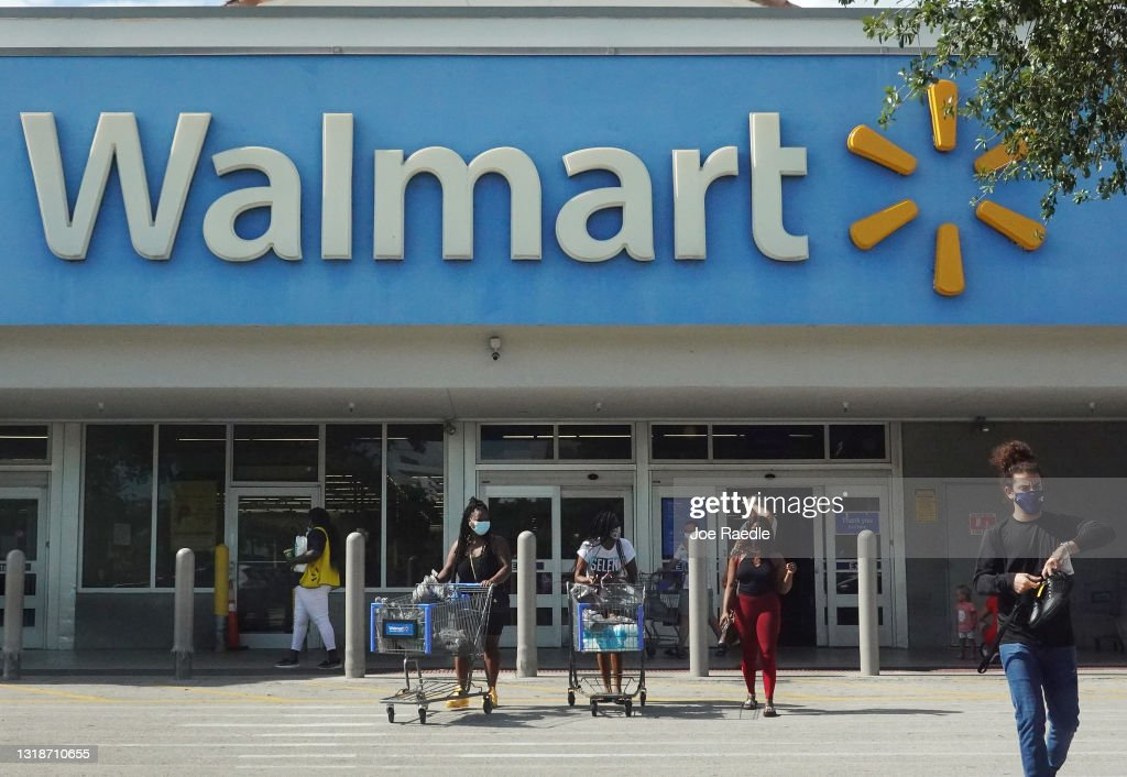 Walmart Removes Mask Mandates For Vaccinated Customers And Employees : News Photo