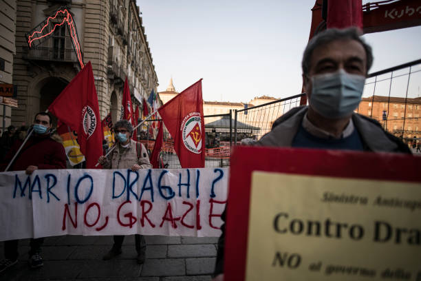 ITA: Protest Against Draghi's New Government In Turin