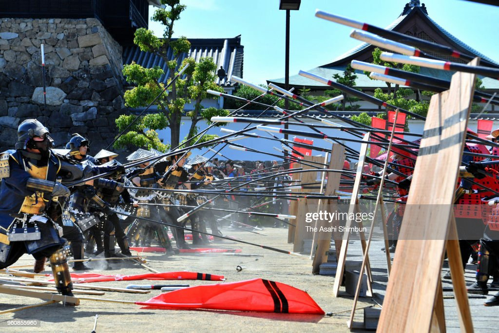 Reproduction Of Battle Of Okehazama Taken Place