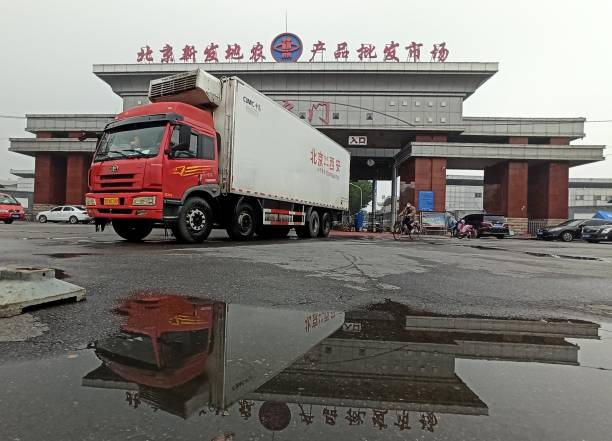 CHN: People Related To Beijing Xinfadi Market Finish Quarantine