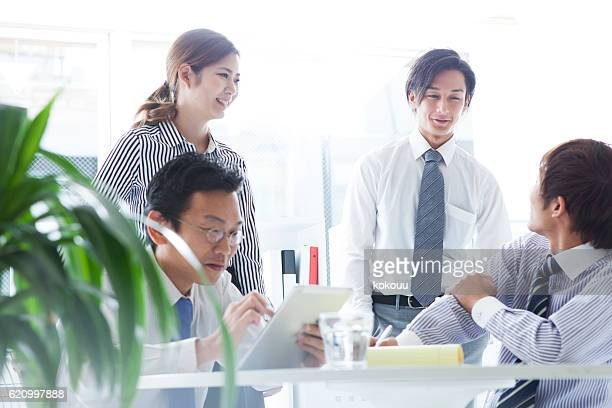 People who have a conference for the company's growth