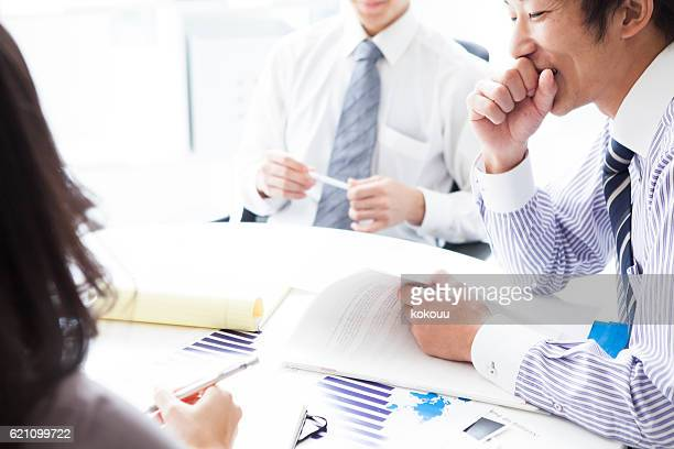 People who have meeting with the article reference in office