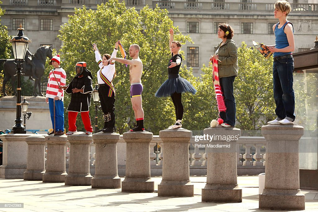 Anthony Gormley's Fourth Plinth Project Holds A Practice Session : News Photo