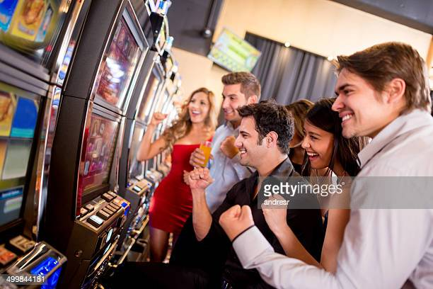 People winning at the casino