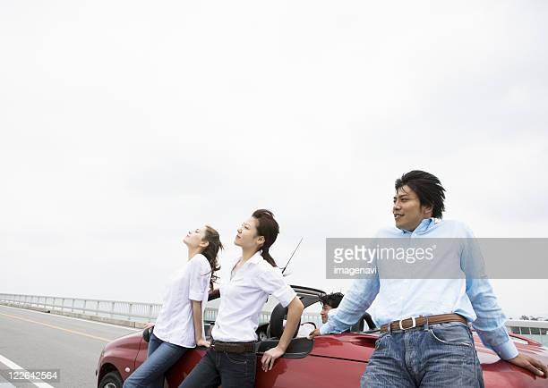 People with a convertible
