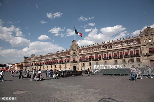 People with Palacio Nacional in Mexico city, Mexico.