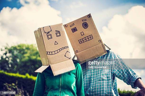 People with robot faces