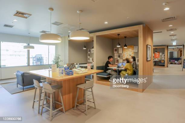 People work at rental office Spaces Shinagawa, operated by Regus Japan KK, a subsidiary of TKP Corp, in Tokyo, Japan, on Tuesday, Sept. 8, 2020....