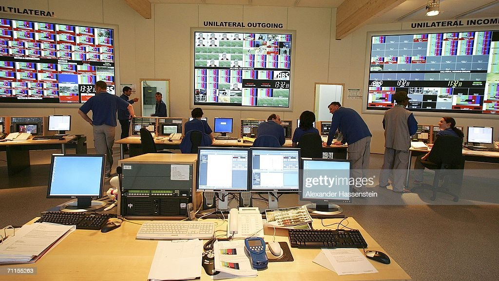People Work In The Master Control Room Of The Tv Provider Host