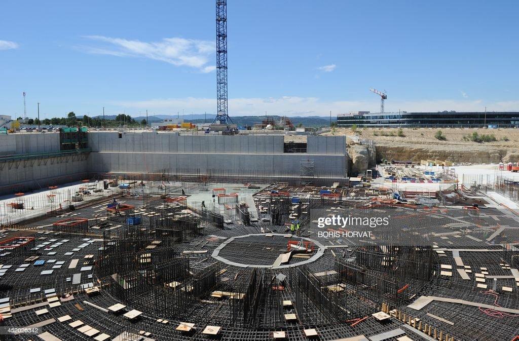 FRANCE-EU-NUCLEAR-SCIENCE-PHYSICS-ENERGY-ITER : News Photo